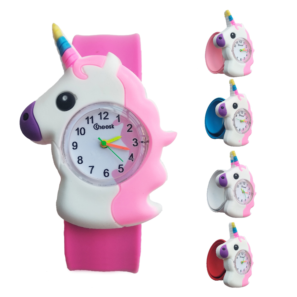 New 2020 Fashion Cool Horse Cartoon Baby Watch For Children Girls Digital Watches Kids Boys Christmas Gift Quartz Wristwatch