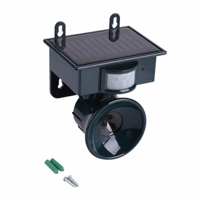 Solar Powered Ultrasonic Pest Repeller Bird Dog Cat Fox Mouse Chaser Rat Repeller PIR Sensor Keep Animals Away