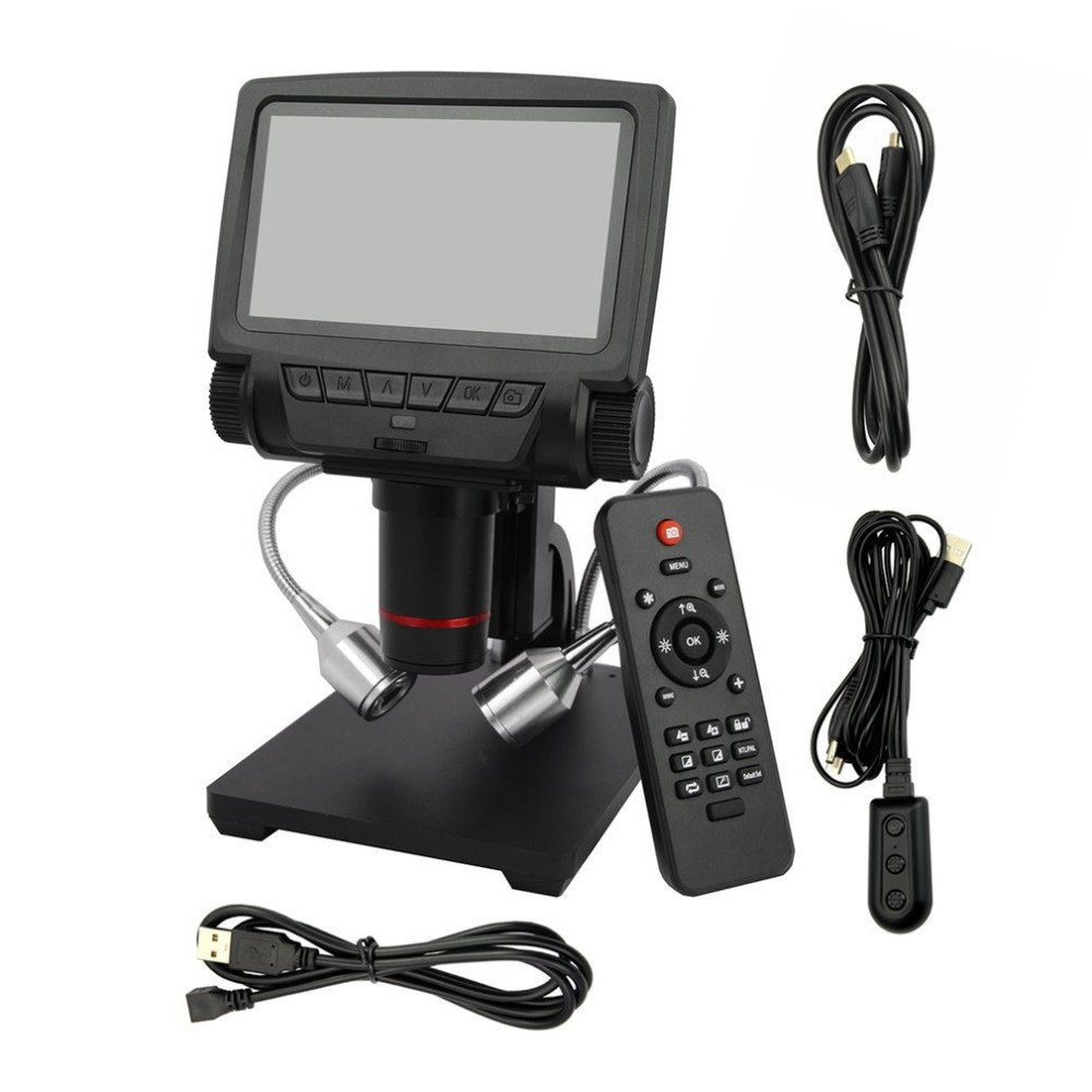 Microscope numérique USB/HDMI/AV ADSM301 5 pouces affichage intégré Distance d'objet élevée THT SMD outil logiciel de mesure