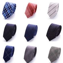 Fashion skinny 6cm floral cotton necktie high fashion plaid ties for men slim cravat neckties mens Gift gravatas