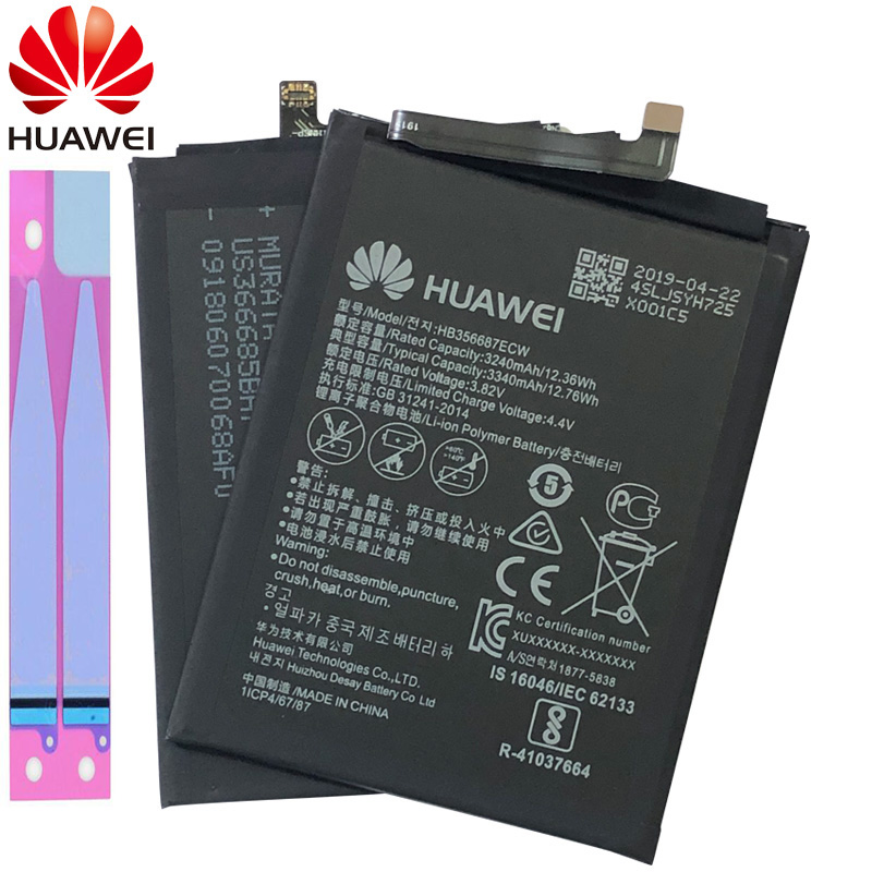 Original huawei 3340mAh HB356687ECW Battery For Huawei Nova 2 Plus 2i Honor 9i G10 Mate 10 Lite Ho