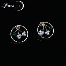 Real Natural Fresh Water Pearl Boho Tree Earrings For Women Gifts Wedding Stud Earring Jewelry Bijoux Femme