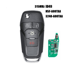 4 Button 315MHz New Replacement Smart Remote Flip Key Keyless Entry Fob  for Ford Fusion 2013-2016 FCC ID: N5F-A08TAA