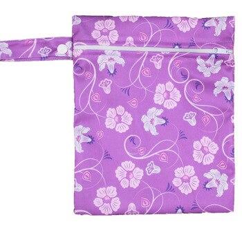 20*25cm Mini Diaper Wet Bag Single Pocket Zipper Baby Bags For Mom Maternity Travel Stroller Bag PUL Nappy Diaper Bag Wetbag - H28
