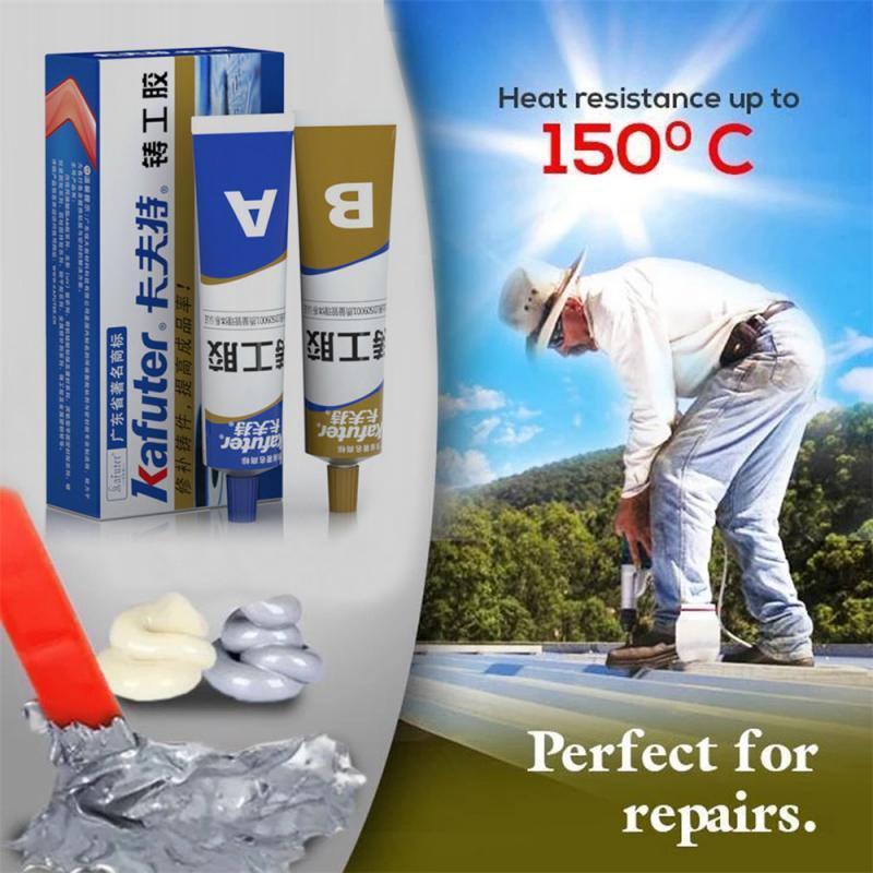 2pc/set Industrial Metal Repair Paste Glue Heat Resistance Cold Weld Waterproof A&B Adhesive Gel Sealant Quick-drying Glue TSLM1