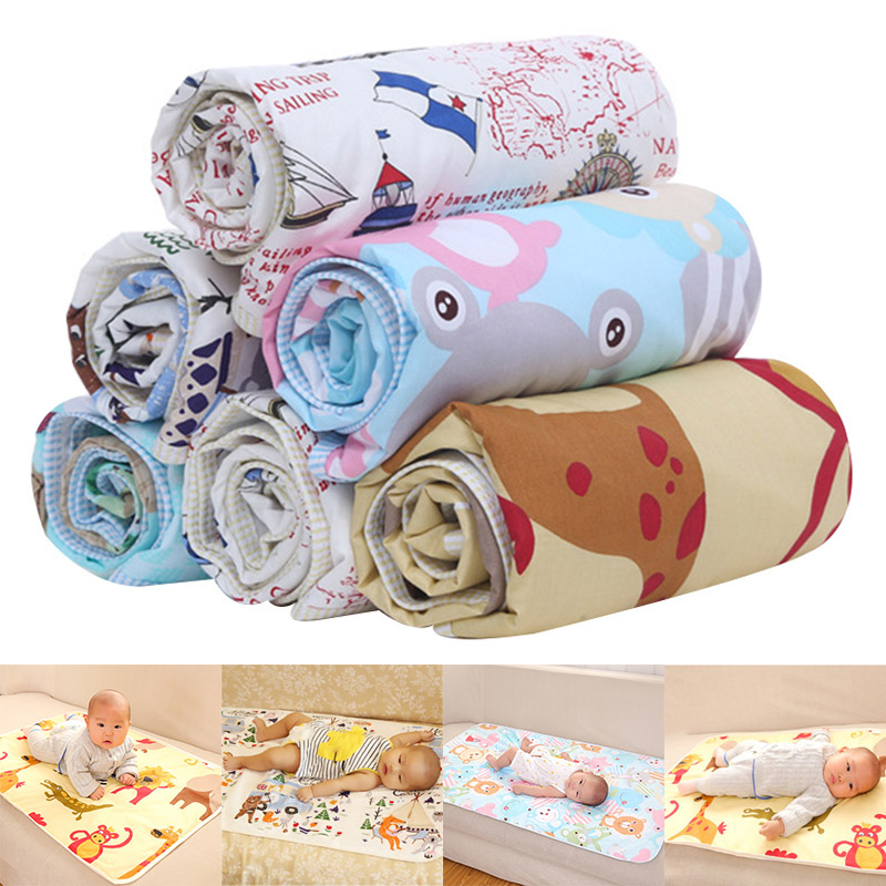Baby Waterproof Urine Pad Diaper Changing Mat Cover 75x120cm Breathable For Bed High Quality