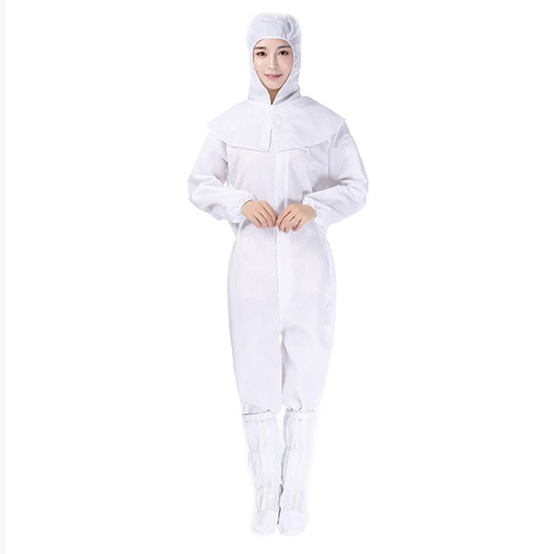COVID-19 Virus Overall Protective Safety Work Anti-static Clothing Protective Suits + Shoes + Protective Cap 1