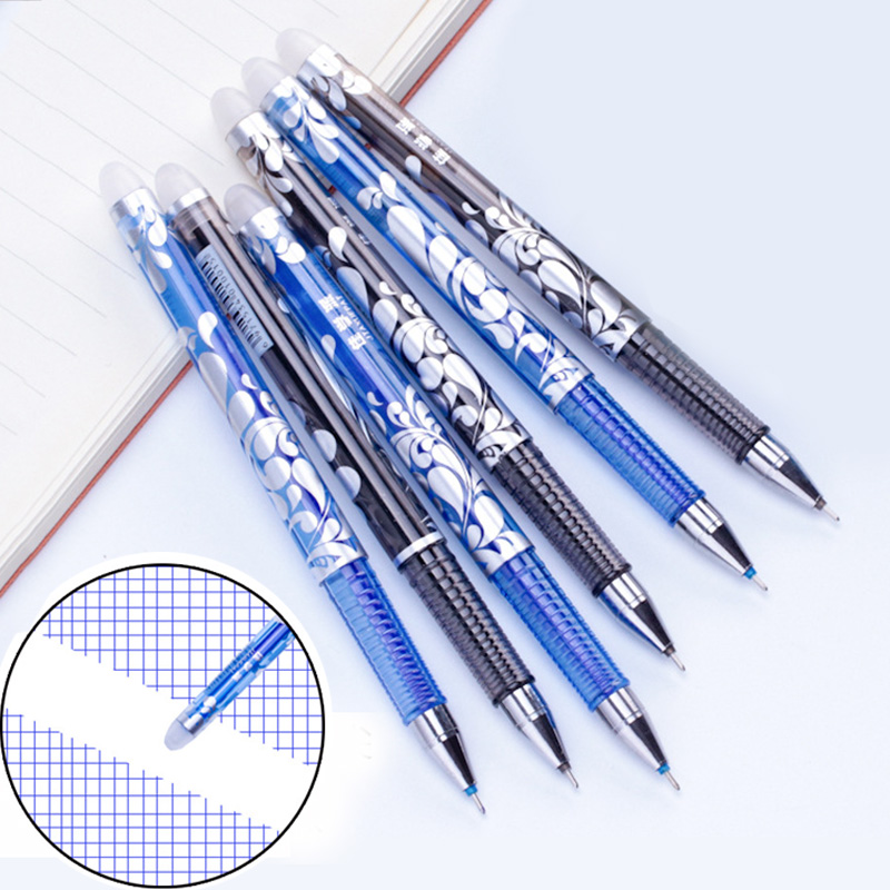 3 Pcs/lot Erasable Pen 0.5mm Magic Erasable Gel Pen School Office Writing Supplies Blue / Black Ink Pen For Students Stationery