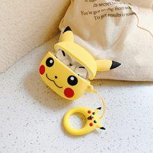 Pokemon airpods pro 3 silicone caso kawaii pikachu dos desenhos animados anti-queda fone de ouvido bluetooth caixa protetora presente do ano novo