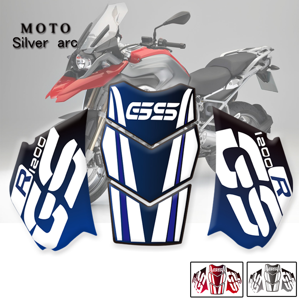 3D Motorcycle Anti slip Tank Pad Sticker Protective stickers For BMW R1200GS Adventure R1200GS ADV 2005 -2012 2011 PVC sticker