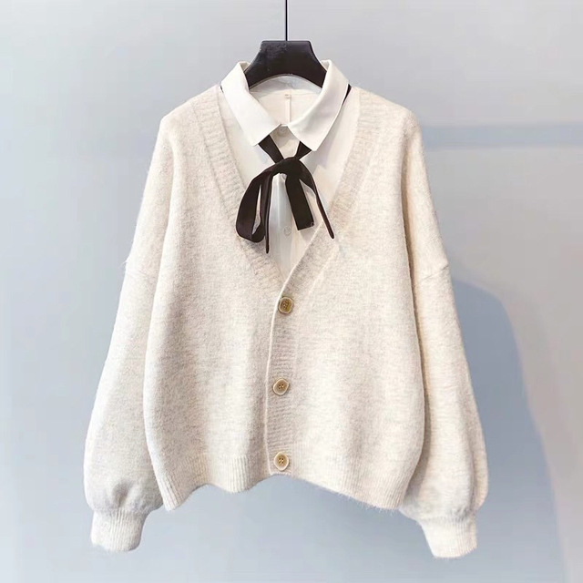 Женский кашемировый свитер на пуговицах 6