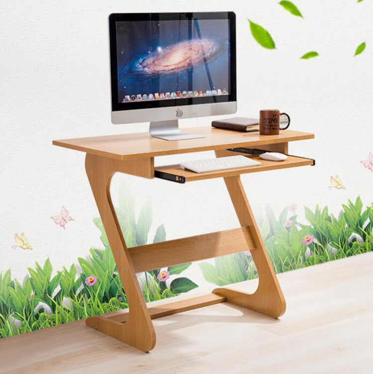 Z Shaped Bed Side Laptop Table Computer Desk With Keyboard Tray Simple Bedroom Writing Study Table подставка для ноутбука