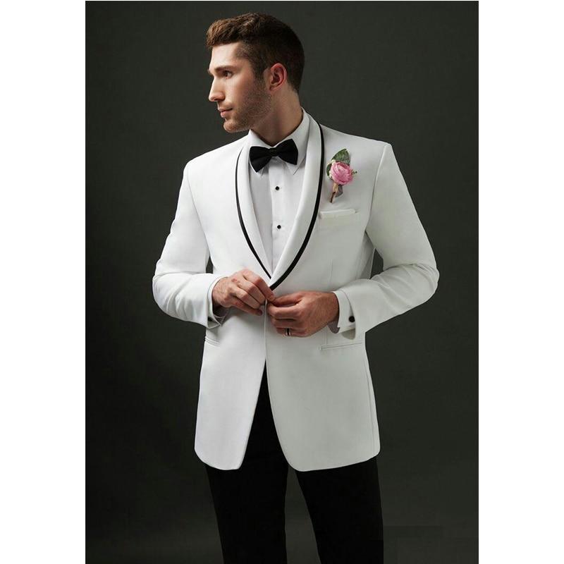 Men Suits For Wedding Tuxedos Groomsmen Suit Groom Best Men Wear Mens Wedding Dress Prom Dress Two Pieces Costume (Jacket+Pants)