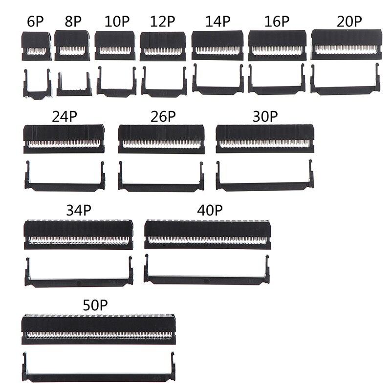 10 шт./набор, 6/8/10/12/14-50Pin IDC контактный разъем Dual Row шаг 2,54 мм разъем IDC 6-50 контактный кабель разъем соединитель ленточного кабеля