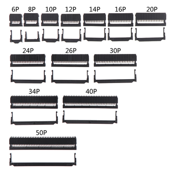 10set 6/8/10/12/14-50Pin IDC Socket Pin Dual Row Pitch 2.54mm Connector 6-50 Cable Plug Ribbon - discount item  16% OFF Electrical Equipment & Supplies