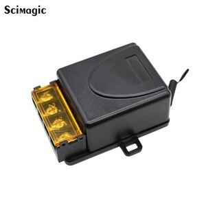 Image 1 - Беспроводной пульт дистанционного управления, 12 В, 24 В, 220 В, 110 В, макс. 40 А, универсальное реле, модуль приемника, широкое напряжение 433 МГц, EV1527
