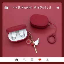 Cute Keyring Silicone Cases For Xiaomi Redmi Airdots 3 TWS True Wireless Bluetooth Earphone Cover For Redmi Airdots3 Fundas
