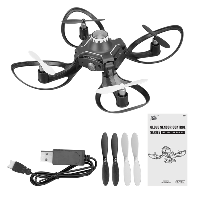 2 4GHZ Mini RC drone Hand sensor control Quadcopter With wifi fpv 480P camera Model Gyro