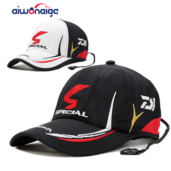 NEW Adult Men Adjustable Breathable Fishing Japan Sunshade Sport Baseball Fishermen Hat Cap Black Special Bucket With Logo