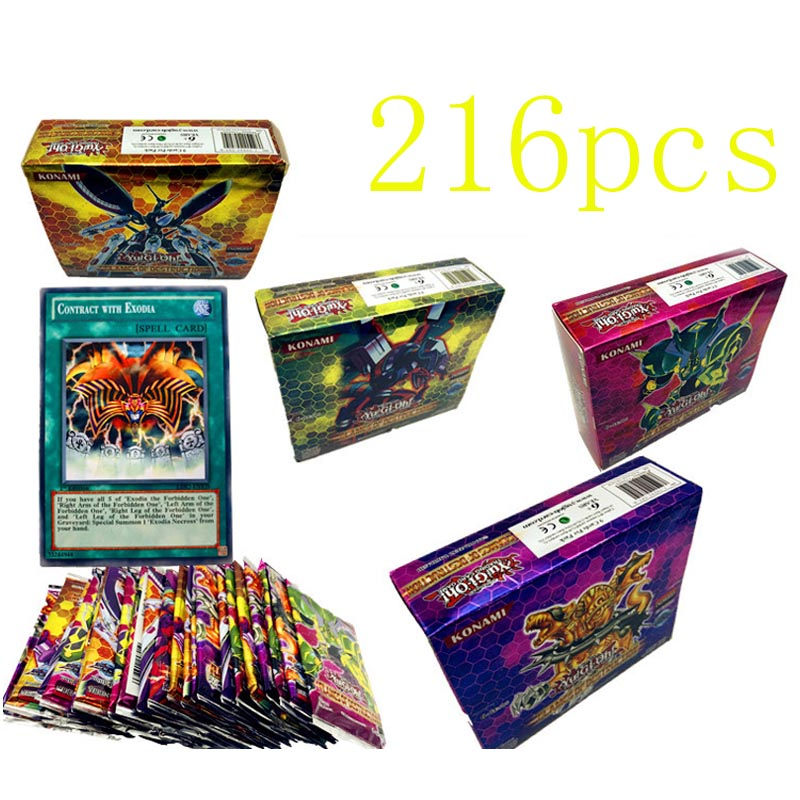 216PCS/Set Yugioh Rare Flash Cards Yu Gi Oh Game Paper Cards Kids Toys Girl Boy Collection Yu-Gi-Oh Cards Christmas Gift