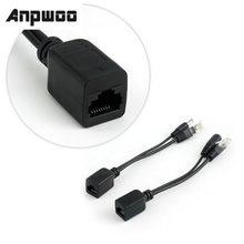 ANPWOO POE кабель пассивный блок питания через Ethernet адаптер кабель POE сплиттер RJ45 инжектор блок питания 12-48 В для IP Camea