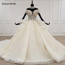 HTL1206 старинные свадебное платье ожерелье 2020 сладкий с плеча цветок талии дизайн бальное платье Vestido де noiva