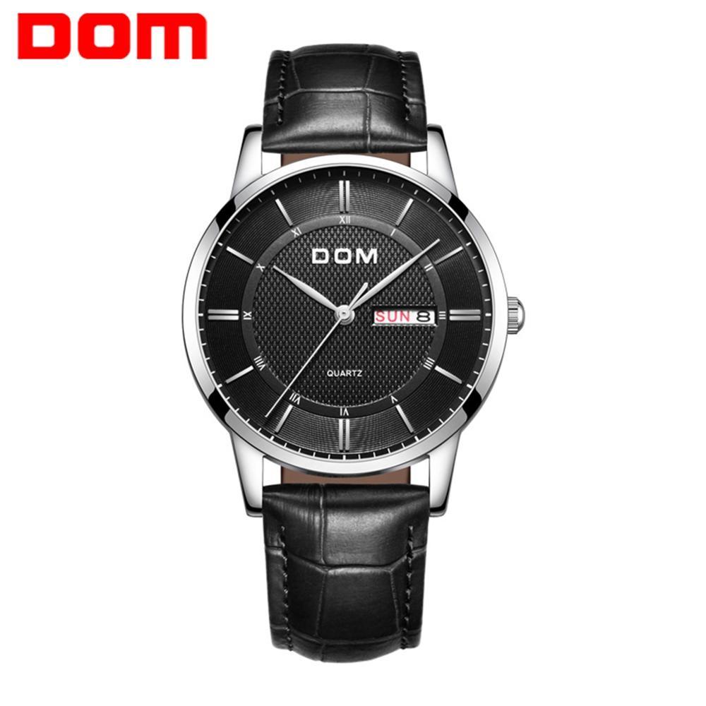 DOM Watches Fashion Men Top Brand Luxury Mens Steel Wristwatches Men's Quartz Sports Watches relogio masculino M-11L-1M