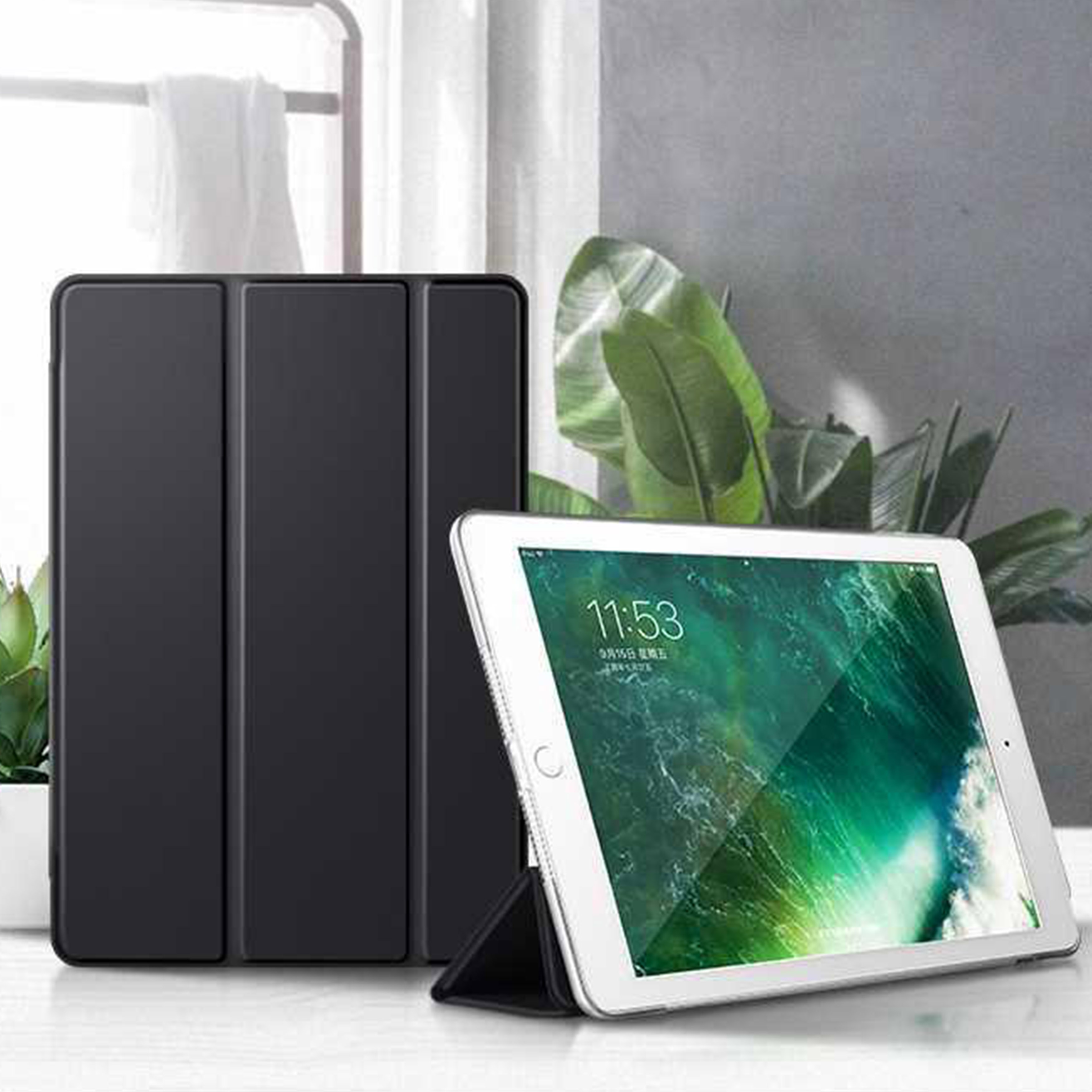 Leather Case For Apple IPad 5 2017 5th Generation Folio Cover For Ipad 5 A1822 A1823 9.7'' Tablet Case Stand Auto Sleep Smart