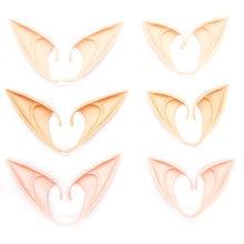 Mascarilla de látex con orejas de elfo, máscara de Cosplay puntiaguda para Halloween, Disfraces para fiesta de máscaras, Festival, 1 par, 2021