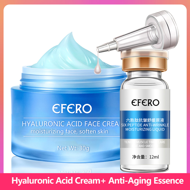 Six Peptides Serum Anti Aging Wrinkle Face Serum Hyaluronic Acid Face Cream Moisturizing Whitening Skin Care Lifting Firming