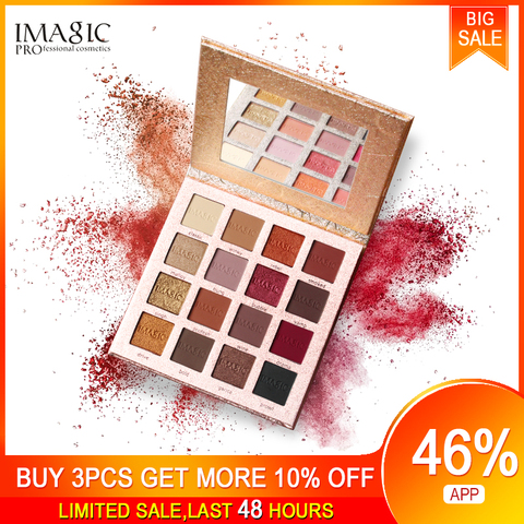 imagic nova chegada encantadora sombra 16 paleta de cores compoem paleta matte shimmer pigmentado sombra