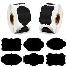 300 шт / рулон черный белый наклейки запечатанный кухня, помещение для хранения и съемный стикер водонепроницаемый ребенка