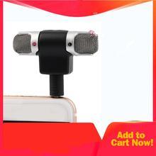 Высокая производительность 3,5 мм разъем портативный мини микрофон цифровой стерео микрофон для рекордера мобильного телефона поет песня караоке