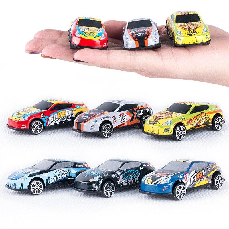 Игрушечный гоночный автомобиль 6 шт./лот, модель такси из сплава и железа, инерционная раздвижная рельсовая машина, маленький подарок, игруш...