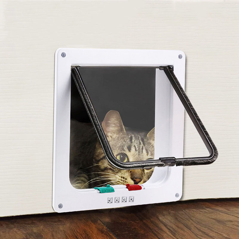 Cat Door Cat Dog And Outside Pet Supplies Cat Hole Pet Door Pet Automatic Door Suitable For All Kinds Of Doors And Windows