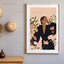 Модные Абстрактная Картина на холсте «женщина» в стиле «Бохо