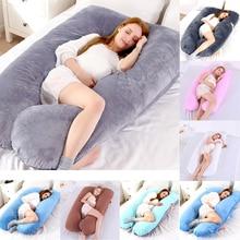 Women Pregnant Pillow Big Size Comfort U Pillow Full Body Maternity Pregnancy Support U Shape Cotton