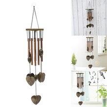 Antique maison-amour coeur 8 Tubes/poisson cuivre 6 cloches détente carillon campanule extérieur salon cour jardin décor carillons éoliens