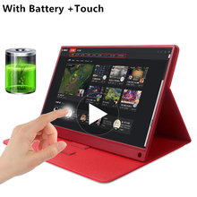 15.6 inch Touch Portable Monitor Full HD 1080 IPS USB C Portable Monitor Built-i