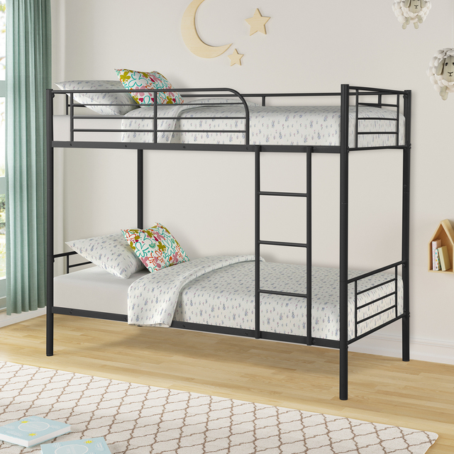 Twin Over Twin Loft Bunkbeds w/Metal Stairs 2