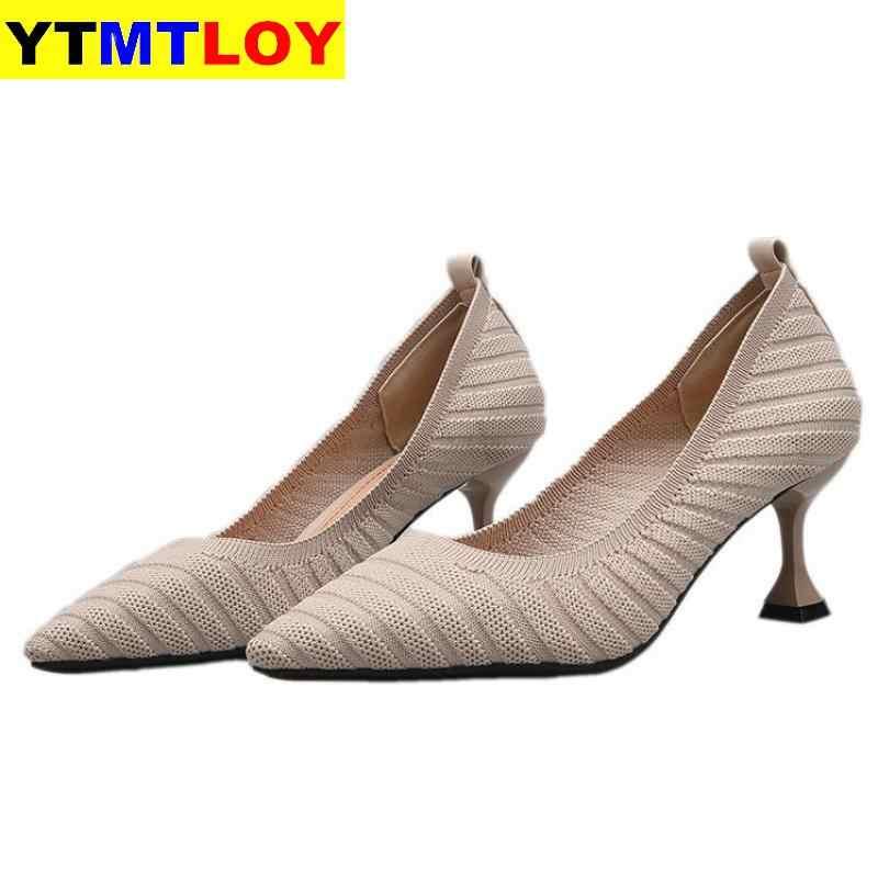Spitz Fetisch Luxus Designer Frau Extreme Maultiere Super High Heels Frauen Sexy Schuhe Damen Pumpen Fliegen weben Casual