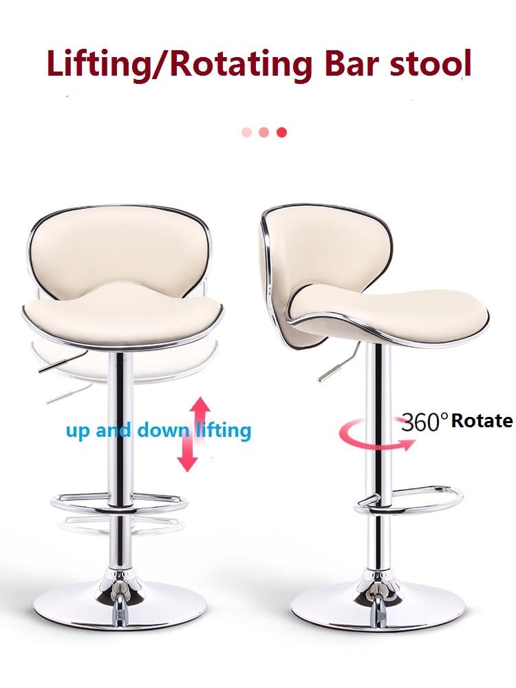 Rotate Bar Chair Lift Chair Front Desk Bar Bench Modern Simple Bar High Footstool High Backrest Bench Universal Modern Bar Stool