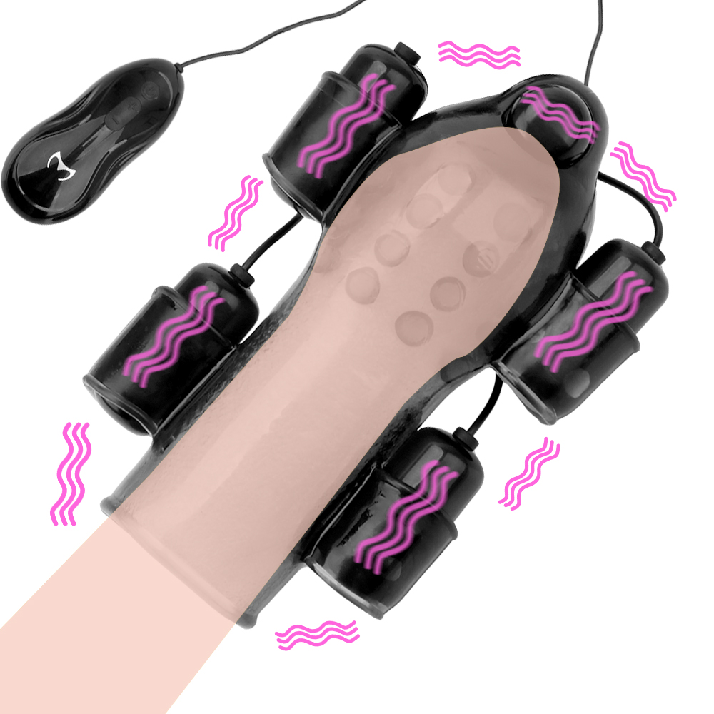 Delay Lasting Trainer Glans <font><b>Vibrator</b></font> <font><b>For</b></font> Man 12 Speed With 2 Caps <font><b>For</b></font> <font><b>Men</b></font> Penis Massager Male Masturbator <font><b>Adult</b></font> <font><b>Sex</b></font> <font><b>Toy</b></font> image