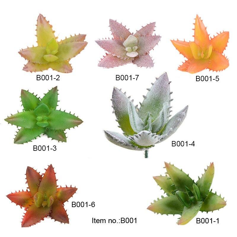 Aloe fleshy plant simulation flower head small flower arrangement accessories fake fleshy plastic flower decoration plan