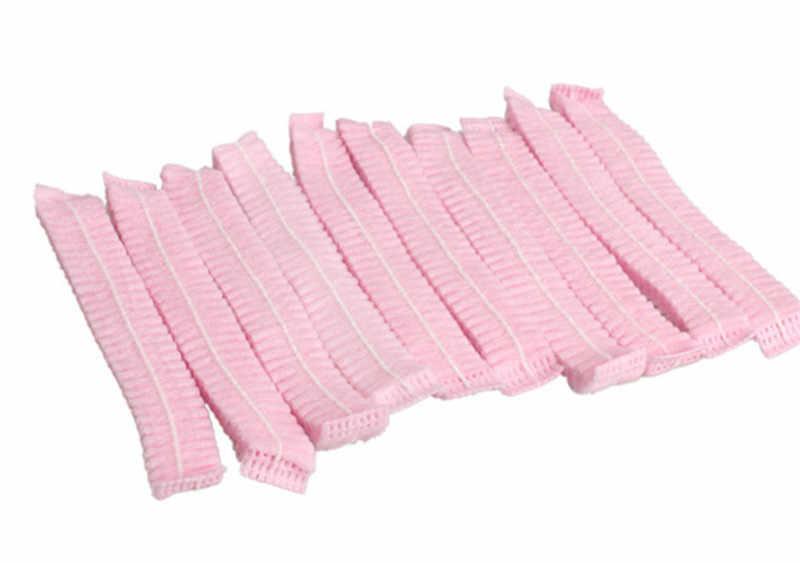 10 PCS non-woven Wegwerp Douche Caps Geplooide Anti Dust Hat Vrouwen Mannen Bad Caps voor Spa Kapsalon badkamer Product