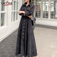 Vicone женское вельветовое платье с портом Виктория элегантное