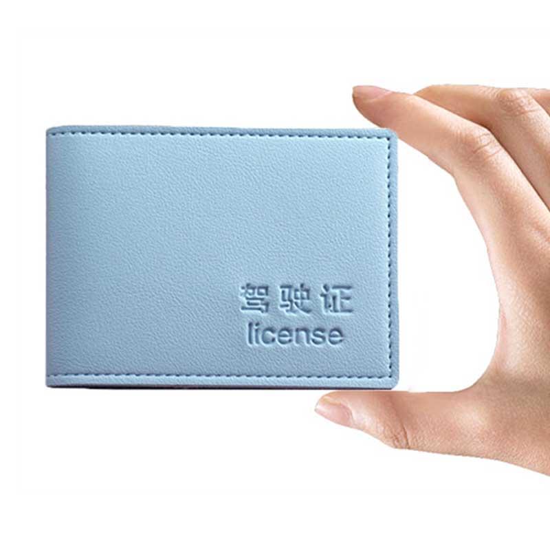 Porte-permis de conduire, couverture en cuir PU, Documents de conduite Business porte-carte d'identité, certificat de passage solide, portefeuille de voyage