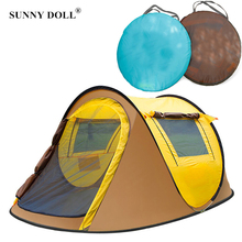 Boat Tent Folding Outdoor Beach Camping Tent Shelter UV-protective Automatic Opening Throwing Pop Up Tent Large Space 3-4 Person automatic camping tent 2 persons beach tent uv protection shelter outdoor tent instant pop up summer tent fishing hiking