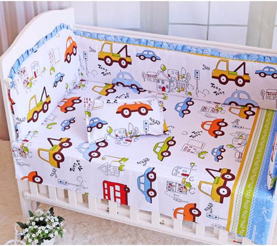 6PCS Carters Baby Crib Bedding Set Room Decor Crib Set Ropa De Cuna Comforter  (bumpers+sheet+pillow Cover)