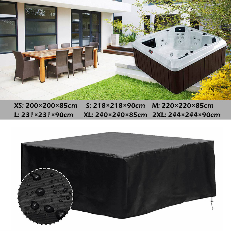 Universal Hot Tub Dust Cover Protect UV Proof All-Weather Spa Cover Cap Waterproof Dustproof Outdoor Garden Rain Dust Guard